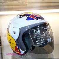 Helm Motor Model GM Evo Termurah - Gambar The Pooh Putih