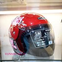 Helm Motor Model GM Evo Termurah - Gambar Gloom Merah
