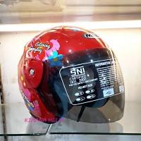 Helm Motor Model GM Evo Termurah - Gambar Doraemon Merah