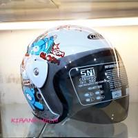 Helm Motor Model GM Evo Termurah - Gambar Gloom Putih
