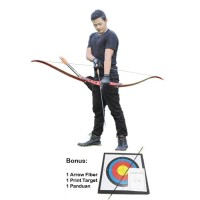 Busur Panah Recurve Logam Laminasi untuk Panahan