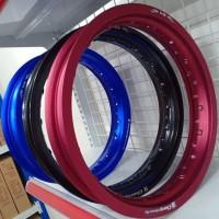Velg Motor Champ Tapak Lebar 14 X 215 Blue Red Black FMV