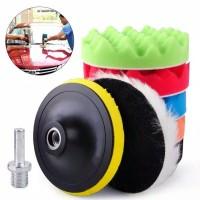 "Poles Mobil Busa 8pcs 7""inch / 7""Sponge Waxing Woll Pad Velcro Adaptor"