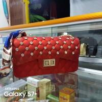 Tas Jelly Matte Import Size 22 cm Clasic Free Boneka Syal Boneka