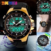 Jam Tangan Pria SKMEI AD 1016 Original Quartz Analog Digital Anti Air