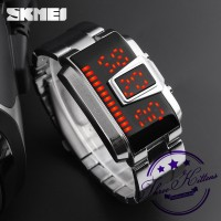 Jam Tangan Pria SKMEI 1179 LED Digital Quartz Alloy Band AntiAir Watch