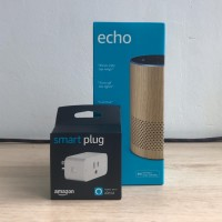 Amazon Echo 2nd Gen smart speaker Garansi - warna Oak / coklat muda