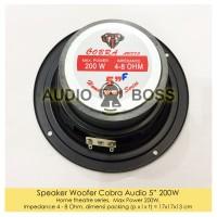 "Speaker Woofer 5 inch Cobra Audio 5"" 5in 200 watt 4-8 Ohm"