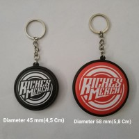 Gantungan Kunci 2 Muka/Sisi Diameter 4,5 cm