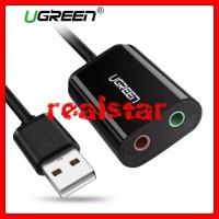 Ugreen Soundcard Adapter Usb 2.0 External Audio for Earphone Mic Aux