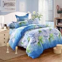 Bed Cover Motif Bunga Uk 180 cm