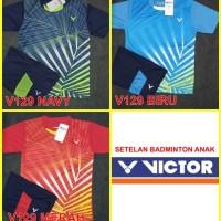 setelan badminton buluangkis olahraga anak victor series custom nama