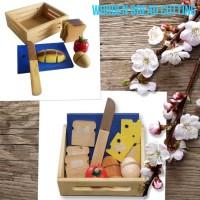 Mainan Edukasi - Mainan Kayu - Roti Potong - Buah Potong
