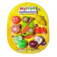 Mainan Edukasi Anak - My Fruit Collection Buah Potong Plastik Isi 6pcs