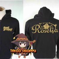 Jaket Hoodie Zipper Game Anime Bang Dream Roselia Project New Edition!