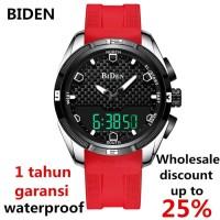 jam tangan BIDEN pria wanita silicone sport fashion alalog waterproof
