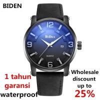 jam tangan Biden pria wanita fashion leather band sport waterproof H