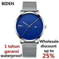 jam tangan Biden pria wanita fahison bisnis sport unisex jam quartz