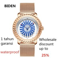jam tangan BIDEN pria wanita bisnis sport fashion mesh waterproof Bi
