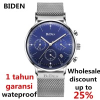 jam tangan Biden fashion pria wanita bisnis simple sport waterproof