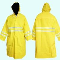 Jas Hujan Safety PVC Bright Yellow With Reflective (Mantel) qty 91EA