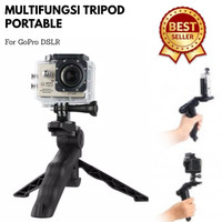 Portable Mini Tripod Lipat for DSLR, GoPro, Xiaomi Yi, Smartphone