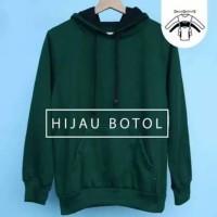 Jaket hijau polos / sweater hoodie polos hijau botol