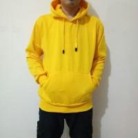 jaket oblong kuning polos / sweater hoodie kuning polos