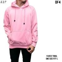 jaket hoodie pink baby polos / sweater polos jumbo pink