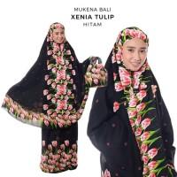 Dijual Mukena Dewasa Rayon Bali Xenia Tulip - Hitam Diskon