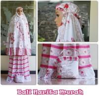 Jual Mukena Bali Narita - Merah Limited