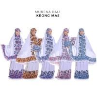 Promo Mukena Dewasa Rayon Bali Keong Mas - Biru Limited