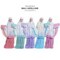Jual Mukena Dewasa Rayon Bali Adelline ( Tas Dompet ) - Biru Limited