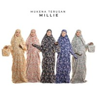 Unik Mukena Dewasa Rayon Bali Terusan Millie - Hitam Diskon