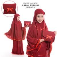 Unik Mukena Anak Rayon Bali Ribbon Quensha - Putih Limited