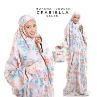 Jual Mukena Dewasa Rayon Bali Terusan Grabiella - Hitam Limited