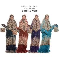 Unik Mukena Dewasa Rayon Bali Terusan Sunflower - Ungu Diskon