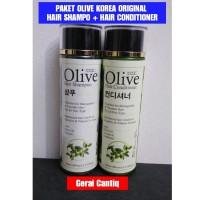 PAKET OLIVE 2 IN 1 - PAKET OLIVE HAIR SHAMPOO & CONDITIONER KOREA BPOM