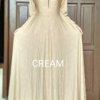 Gamis Jersey Embos Cream
