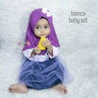Bianca Baby Set - Baju Muslim Balita - Dress Pesta Lucu Sz M 5-8bln