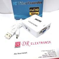 Sambungan Kabel VGA to ke HDMI Box