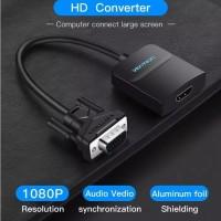 Kabel Sambungan Converter VGA to ke HDMI Adaptor with Micro USB Power