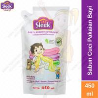 SLEEK Baby Laundry Detergent Pouch 450ml Deterjen Cair Pakaian Bayi
