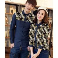 Origami Navy - Baju/ Kemeja/ Fashion/ Couple/ Pasangan/ Batik/ Pesta