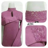 Baju Manset Renda Allsize Bahan Kaos Premium