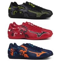Sepatu Futsal Mizuno Ryuou IN - Blue Depth / Chinese Red Original