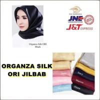 New Organza Silk Ori Jilbab Instan Hijab Instan Pakaian Wanita