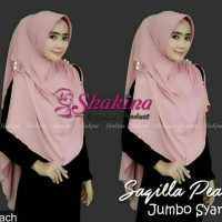 New Hijab Kerudung Jilbab Instan Khimar Shakira Saqilla Pearl Jumbo