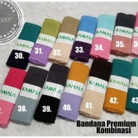 New Bandana Ciput Rajut Premium Salur 2 Warna By Kamala Berkualitas