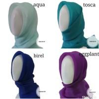 New Jilbab / Hijab / Kerudung Organza Silk Premium!!! - Putih